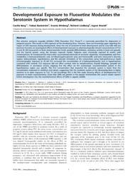 Plos One : Developmental Exposure to Flu... by Mintz, Eric, M.