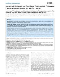 Plos One : Impact of Diabetes on Oncolog... by Moschetta, Antonio