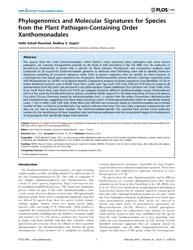 Plos One : Phylogenomics and Molecular S... by Brochier-armanet, Celine