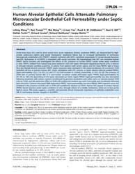 Plos One : Human Alveolar Epithelial Cel... by Buch, Shilpa, J.