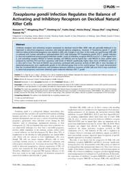 Plos One : Toxoplasma Gondii Infection R... by Heimesaat, Markus, M.