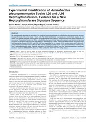 Plos One : Experimental Identification o... by Chang, Yung-fu