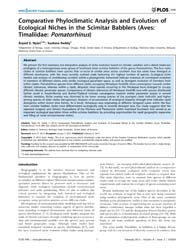 Plos One : Comparative Phyloclimatic Ana... by Swenson, Nathan, G.