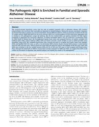 Plos One : the Pathogenic Aβ43 is Enrich... by Fernandez-funez, Pedro