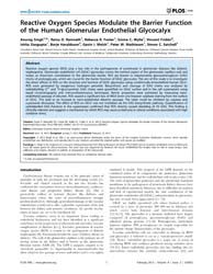 Plos One : Reactive Oxygen Species Modul... by Guerrot, Dominique