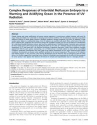 Plos One : Complex Responses of Intertid... by Dupont, Sam