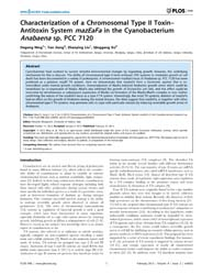 Plos One : Characterization of a Chromos... by Manganelli, Riccardo