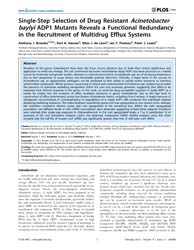 Plos One : Single-step Selection of Drug... by Single-step Selection of Drug Resistant Acinetobac...