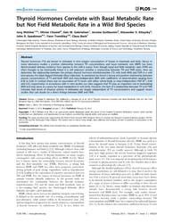 Plos One : Thyroid Hormones Correlate wi... by Munn, Adam, J.