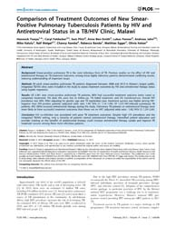 Plos One : Comparison of Treatment Outco... by Ho, Wenzhe