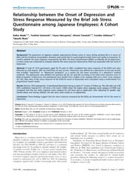 Plos One : Relationship Between the Onse... by Tak Lam, Wendy, Wing