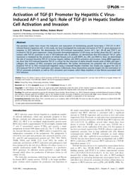 Plos One : Activation of Tgf-b1 Promoter... by Tseng, Ching-ping