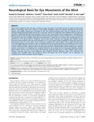 Plos One : Neurological Basis for Eye Mo... by Martinez-conde, Susana