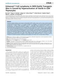 Plos One : Enhanced T Cell Lymphoma in N... by Bunting, Kevin, D.
