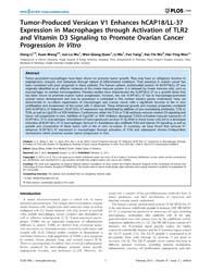 Plos One : Tumor-produced Versican V1 En... by Wang, Qiang