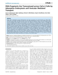 Plos One : Dna-fragments Are Transcytose... by Der Goot, F., Gisou Van