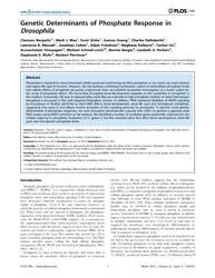 Plos One : Genetic Determinants of Phosp... by Missirlis, Fanis