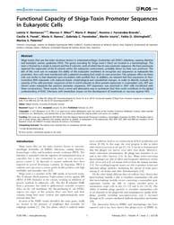 Plos One : Functional Capacity of Shiga-... by Skurnik, Mikael
