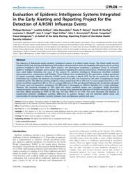 Plos One : Evaluation of Epidemic Intell... by Nishiura, Hiroshi
