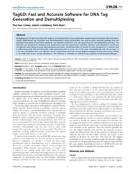 Plos One : Taggd ; Fast and Accurate Sof... by Benos, Panayiotis V.