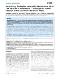 Plos One : Neutralizing Antibodies Induc... by Jin, Xia