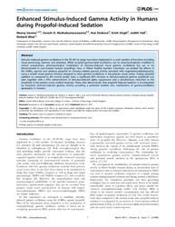 Plos One : Enhanced Stimulus-induced Gam... by Barnes, Gareth Robert