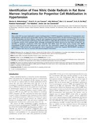 Plos One : Identification of Free Nitric... by Stadler, Krisztian