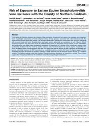 Plos One : Risk of Exposure to Eastern E... by Coffey, Lark L.