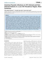 Plos One : Intestinal Parasitic Infectio... by Sued, Omar