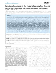 Plos One : Functional Analysis of the As... by Yu, Jae-hyuk