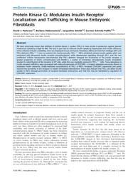 Plos One : Protein Kinase Ce Modulates I... by Kanzaki, Makoto