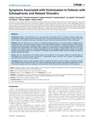 Plos One : Symptoms Associated with Vict... by Clelland, James D.