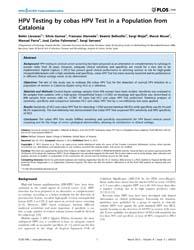 Plos One : Hpv Testing by Cobas Hpv Test... by Scheurer, Michael