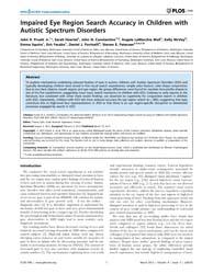 Plos One : Impaired Eye Region Search Ac... by Zalla, Tiziana