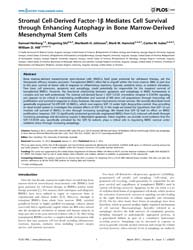 Plos One : Stromal Cell-derived Factor-1... by Gronthos, Stan