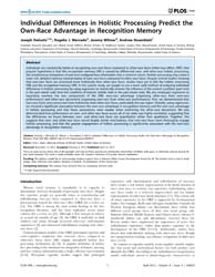 Plos One : Individual Differences in Hol... by Baker, Chris I.