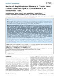 Plos One : Natriuretic Peptide-guided Th... by Hernandez, Adrian V.