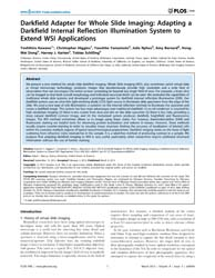 Plos One : Darkfield Adapter for Whole S... by Marcus, Adam I.