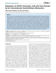 Plos One : Regulation of Aspp2 Interacti... by Uversky, Vladimir N.