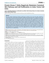 Plos One : Protein Kinase C Delta Negati... by Kolligs, Frank T.