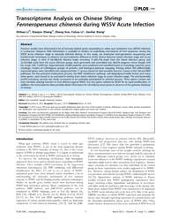 Plos One : Transcriptome Analysis on Chi... by Söderhäll, Irene