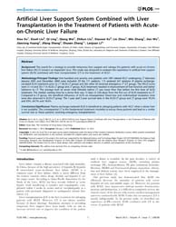 Plos One : Artificial Liver Support Syst... by Man, Kwan