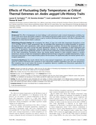 Plos One : Effects of Fluctuating Daily ... by Vasilakis, Nikos