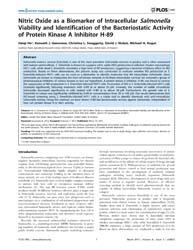 Plos One : Nitric Oxide as a Biomarker o... by Alan, Joseph, Bauer