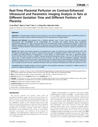 Plos One : Real-time Placental Perfusion... by Kanellopoulos-langevin, Colette