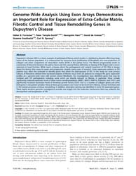 Plos One : Genome-wide Analysis Using Ex... by Dardis, Andrea