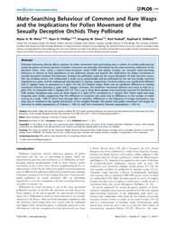 Plos One : Mate-searching Behaviour of C... by Chapman, Geraldine, Maura