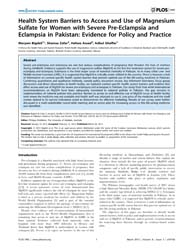 Plos One : Health System Barriers to Acc... by Middleton, Philippa