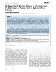 Plos One : Phylogenetically Distinct Bac... by Shah, Vishal