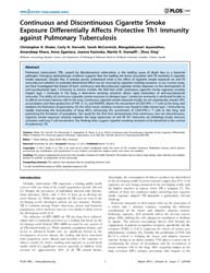 Plos One : Continuous and Discontinuous ... by Doherty, Mark, T.